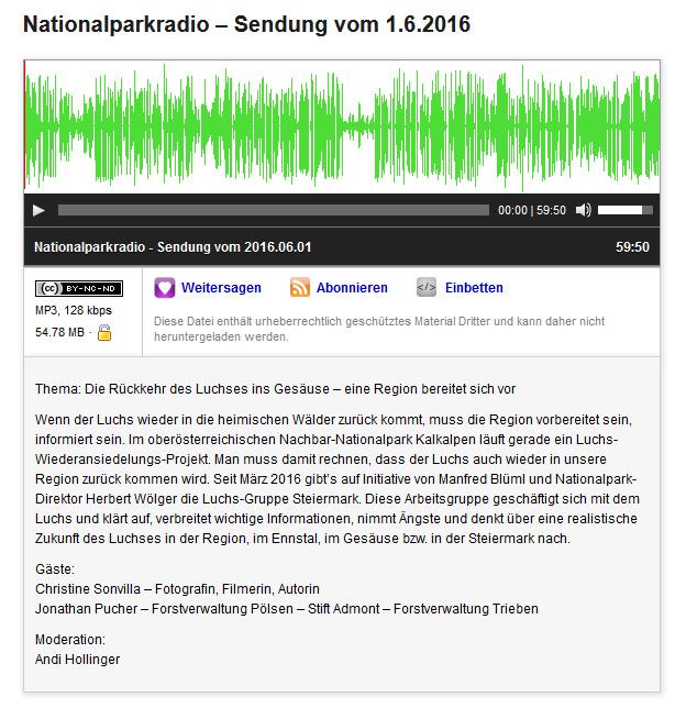 radio_interview_Rückkehr des Luchses